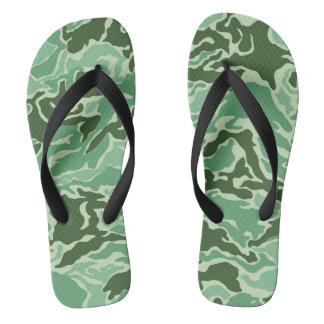 Green Camouflage Camo Thongs