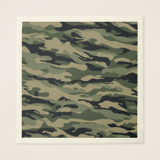Green Camouflage. Camo your Disposable Napkins