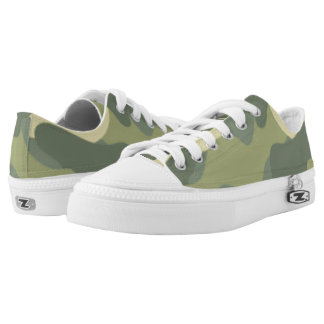 Green Camouflage. Camo your Low Tops