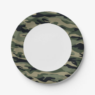 Green Camouflage. Camo your Paper Plate