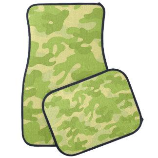 Green Camouflage Car Mats