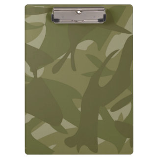 Green Camouflage Clipboards