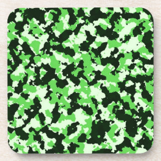 Green Camouflage Coaster