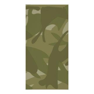 Green Camouflage Custom Photo Card