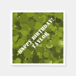 Green Camouflage Disposable Napkin
