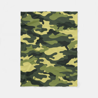 Green Camouflage Fleece Blanket