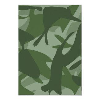 Green Camouflage II 9 Cm X 13 Cm Invitation Card