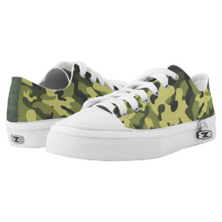 Green Camouflage Low Top Shoes