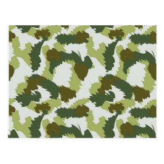 Green Camouflage pattern Postcard