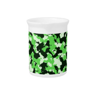 Green Camouflage Pitcher