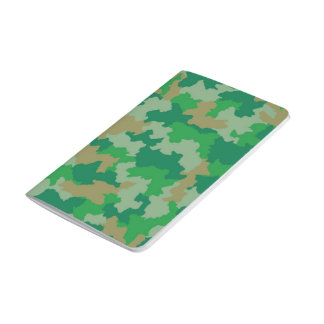 Green Camouflage Pocket Journal
