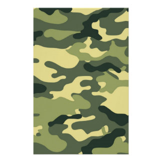 Green Camouflage Scrapbook Crafting Paper Personalised Stationery