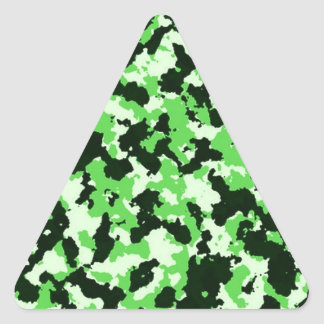 Green Camouflage Triangle Sticker