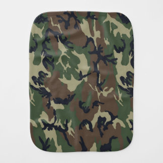Green Camouflage Uno Burp Cloth
