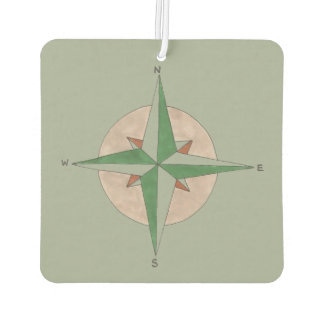 Green Camping Hiking Climbing Camp Compass Gift Car Air Freshener