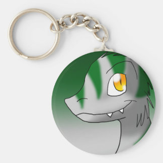Green Candy Cane/Peppermint Microraptor Keychains