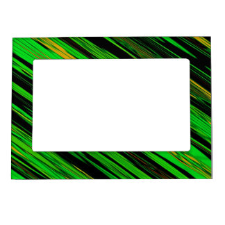 Green Candy Stripe Frame Magnet