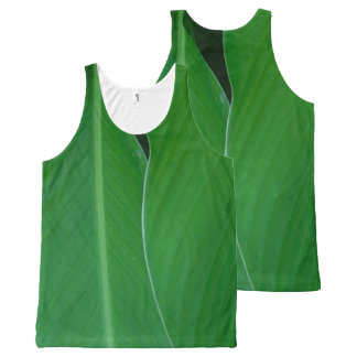 Green canna lily leaves photo All-Over print singlet
