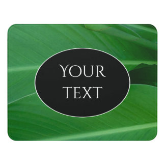 Green canna lily leaves photo door sign