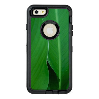 Green canna lily leaves photo OtterBox defender iPhone case