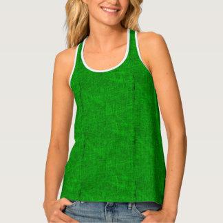 Green Canvas Texture Singlet