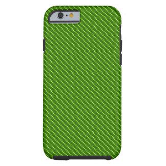Green Carbon Fiber Base Tough iPhone 6 Case