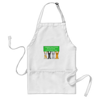 Green card Congratulations, cartoon cats. Standard Apron