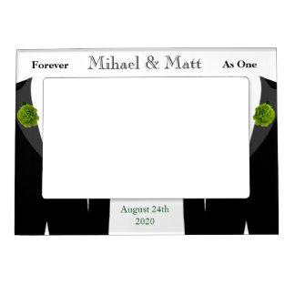 Green Carnation Grooms Gay Wedding Gift Frame Magnetic Frames