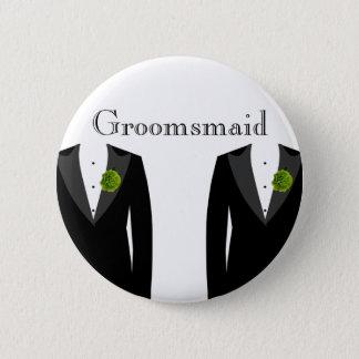 Green Carnation Groomsmaid Badge for a Gay Wedding