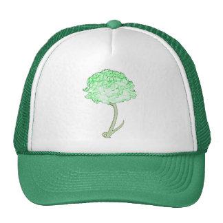 Green Carnation Mesh Hat