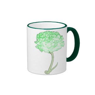 Green Carnation Coffee Mugs