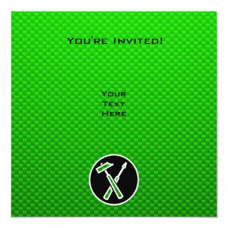 Green Carpenter Tools Invite