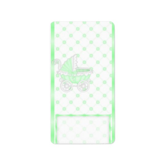 Green Carriage Hersheys Miniature Candy bar wrap Address Label