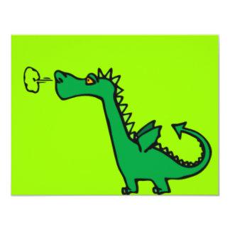 Green Cartoon Dragon Card
