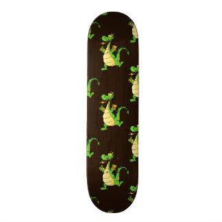 Green Cartoon Dragon Pattern Skate Board Deck