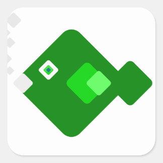 Green Cartoon Fish Sticker