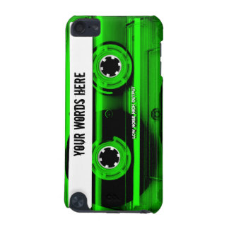 Green Cassette Tape Personalized iPod Touch (5th Generation) Covers