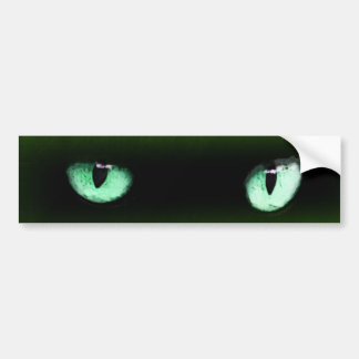 Green Cat Eyes Bumper Sticker