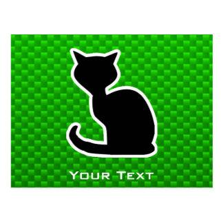 Green Cat Post Card