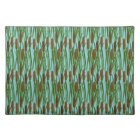 Green Cat Tails Floral Pattern Placemat