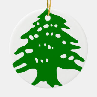 Green Cedar / Lebanon Cedar Ceramic Ornament
