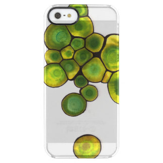 Green Cells Abstract Art Clear iPhone SE/5/5s Case