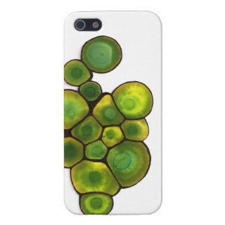 Green Cells Abstract Art Cover For iPhone 5/5S