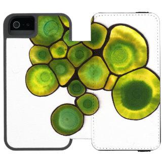 Green Cells Abstract Art Incipio Watson™ iPhone 5 Wallet Case