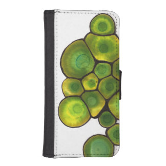 Green Cells Abstract Art iPhone SE/5/5s Wallet Case