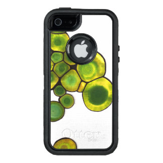Green Cells Abstract Art OtterBox Defender iPhone Case