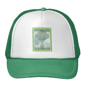 Green Celtic Cross And Clouds Trucker Hat