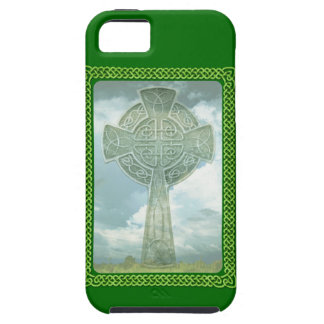 Green Celtic Cross And Clouds iPhone 5 Cover