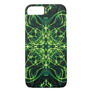 Green Celtic Cross Clover Geometry Cell Case