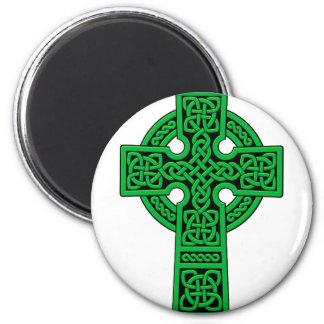 Green Celtic Cross Magnets
